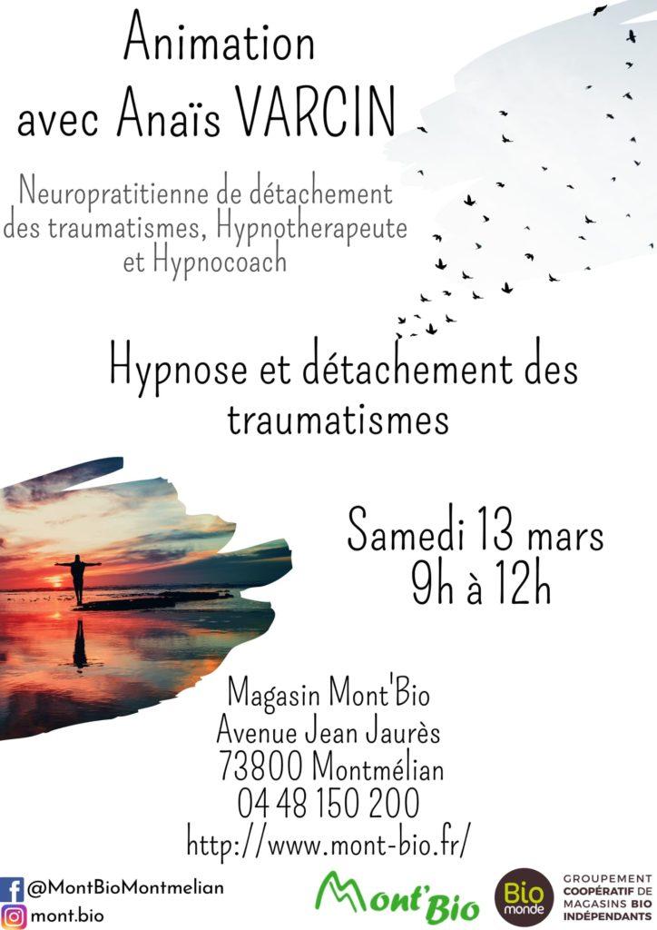 Affiche annonçant l'animation du samedi 13 mars